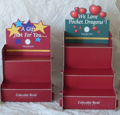 POCKET DRAGON * 2 x DISPLAY STANDS * BRAND NEW AND NEVER USED