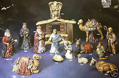 Ceramic Bisque 15 Pc Large Nativity Scene Kimple 1700 Set U-Paint Ready To Paint