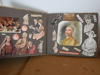 Antique WW1 era Scrap book amazing images war fashion social history Propaganda