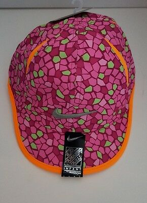 NEW! Nike Girl's Dri-Fit Baseball Embroidered Logo Cap, Size 12/24M (Pinksicle)