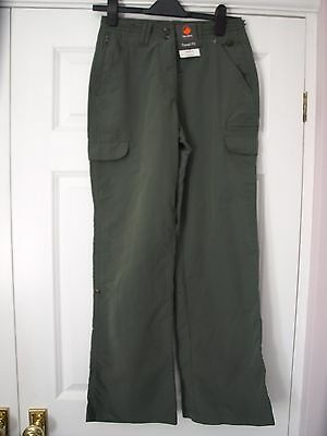 Green Peter Storm ladies walking trousers, size 8/regular NWT
