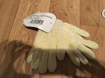 Age 10 - 14 Years Cream Chenille Gloves