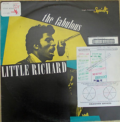 The Fabulous Little Richard LP Specialty  SNTF 5027 Mono - Ex-library