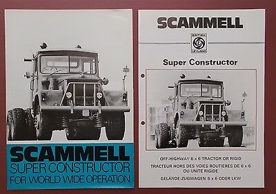 SCAMMELL SUPER CONSTRUCTOR Sales & Technical Brochures.  2 ITEMS