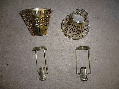Vintage Silver Plated Candle Shades