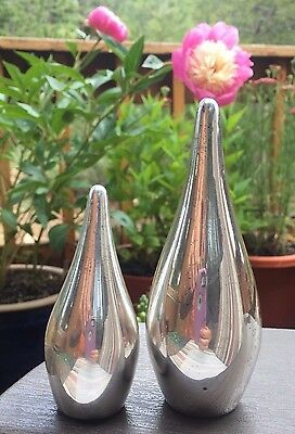 Allan Adler Teardrop Sterling Modernist Salt Pepper Shakers