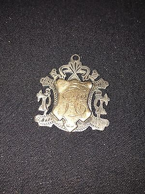 Antique Hall marked Silver And 9ct Gold Medal 1910