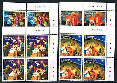 Bahamas 2016 Christmas 4v PLATE BLOCKS MNH