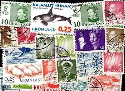 GROENLAND - GREENLAND collections de 25 à 250 timbres différents