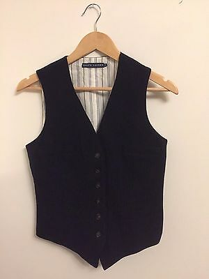 Ralph Lauren designer waistcoat size 6 ladies perfect summer on trend