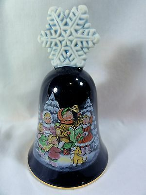 Avon Holiday Hand Painted Christmas Carol Bell - Perfect