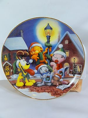 Danbury Mint - A Day With Garfield - Sounds Of Christmas - Collector Plate