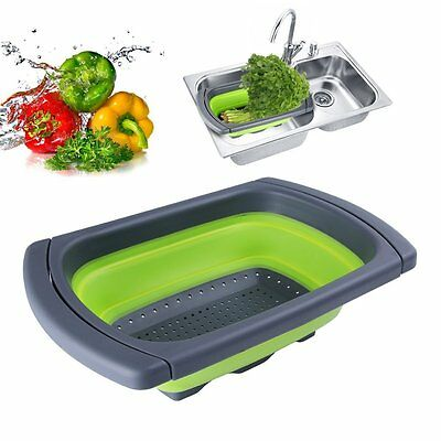 3.8L Kitchen Craft Sink Scolapasta, pieghevole telescopica silicone (k3u)