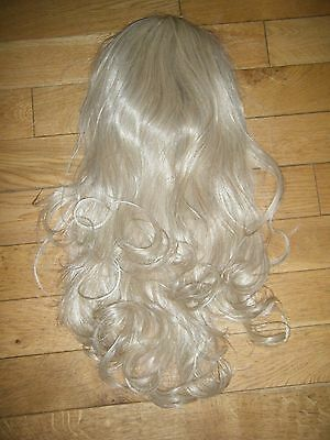 Gorgeous Light Blonde Curled Synthetic 3/4 Hair Piece Extensions Holiday/ibiza