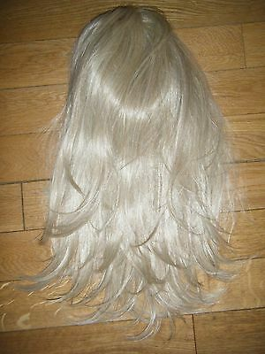 Gorgeous Light Blonde Wavy Synthetic 3/4 Hair Piece Extensions Holiday/ibiza
