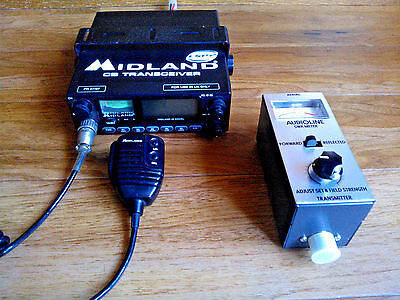 Midland 48 Excel CB Radio with  UK & EU & Audioline SWR Meter