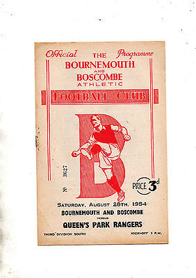 BOURNMOUTH & BOSCOMBE ATHLETIC v QUEENS PARK RANGERS 1954/5