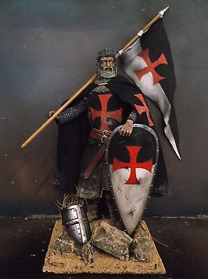 "12"" Custom Templar Knight Sergeant, Medieval Crusader Warrior 1/6 Figure Ignite"
