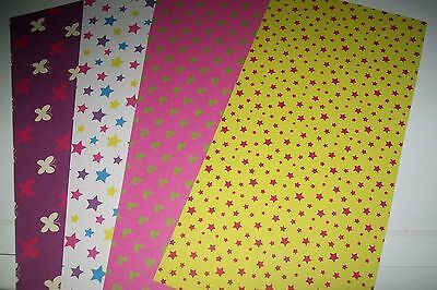 "4 Sheets Cardboard ""party Time "" /2 Sided 30 X 15 Cm (A485) New New"