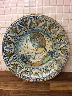 Rare Maiolica Charger 1640 Montelupo Faience Delft Tinglazed 17Th Century Xvii