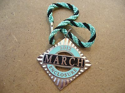 Goodwood Original 2012 March Enclosure  W O Lewis Numbered Badge With Lanyard