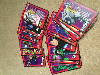 12 Marvel Ultimate Villains And 14 Iron Man Trading Cards