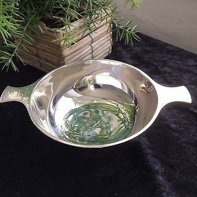 SCOTTISH STERLING SILVER QUAICH BOWL, BROOK & SON EDINBURGH 1922 WEIGHT 200.23g