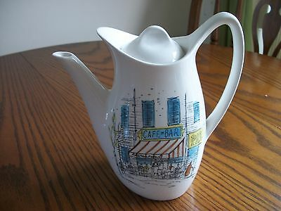 """Vintage Midwinter """"Cannes"""" Coffee / Teapot by Hugh Casson"""
