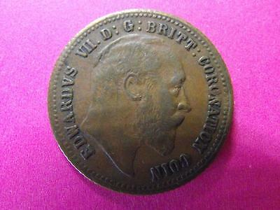 Edward VII 1911 copper Sovereign game counter Contemporary Forgery