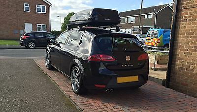 Exodus Roof Box 470ltr Plus Thule Wing Bars And Thule Fixtures.