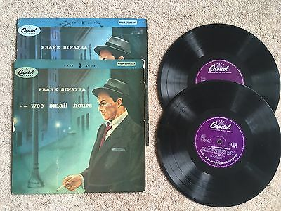 Frank Sinatra In The Wee Small Hours 10 Inch Part 1 And 2 Rare LP