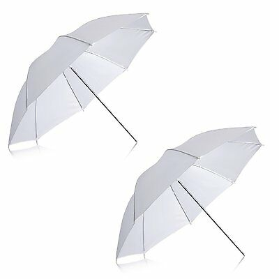 "Neewer® 2 Pack 33""/84cm White Translucent Soft Umbrella for Photo and Video"