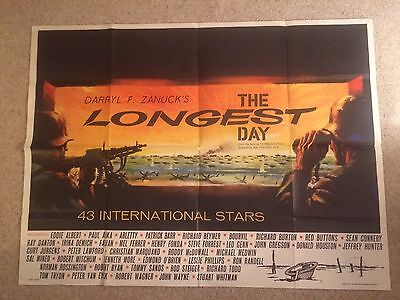 The Longest Day Quad Poster Rare First release