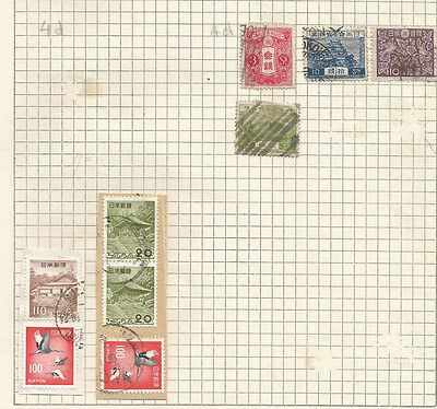 JAPAN -  lot of 9 USED STAMPS