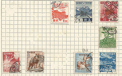 JAPAN -  lot of 19 USED STAMPS