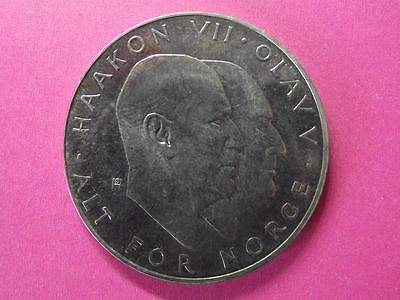 Norway 25 Kroner 1970 silver coin