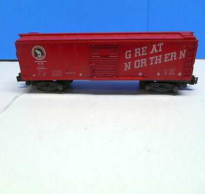 American Flyer S Gauge 24047 Great Northern Pluged Door Box Car.