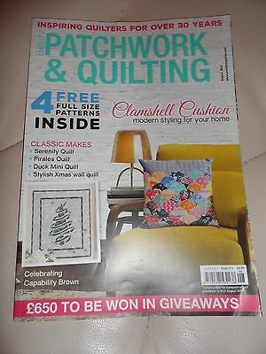 British Patchwork & Quilting Magazine August 2016 Issue 271 Clamshell Cushion