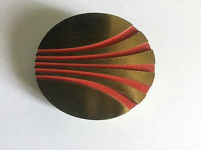 """Late 1960s early 1970s continental logo brass 4""""x3.5"""""""