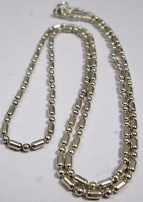 Fine vintage sterling silver ornate chain necklace