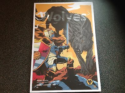 Wolverhampton Wanderers V Reading 13/8/2016 Programme Wolves