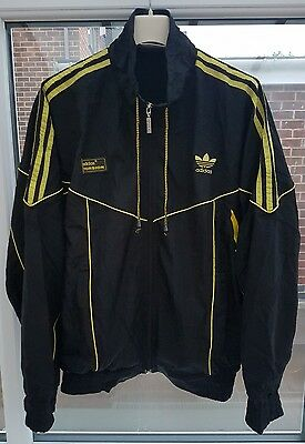 Vintage Retro Adidas Torsion Shell Suit Running Athletics Track Top Size 38/40