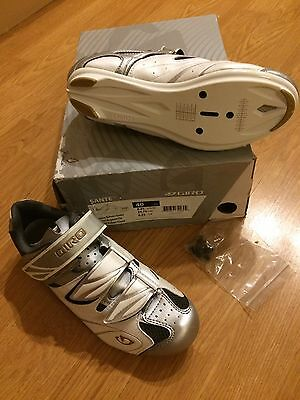 Giro Sante Womens White Clipless Road Cycling/Bike/Light/Cyclewear Size 6 New