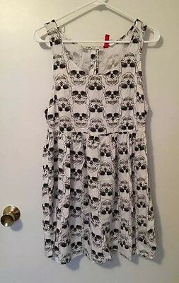 5ddde58420f2 H&M DIVIDED SKULL Dress Size 12 Swim Cover Baby Doll - $34.00 | PicClick