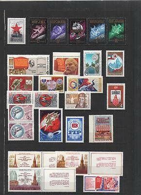 RUSSIA COLLECTION 1960's/80's MNH ON 17 PAGES