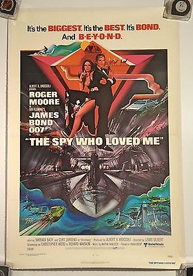 JAMES BOND THE SPY WHO LOVED Original Theatre Movie Poster 27 x 41 linen backed