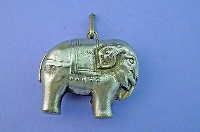 Circa 1920's Silver Plated Elephant Rattle. W.H.Collins