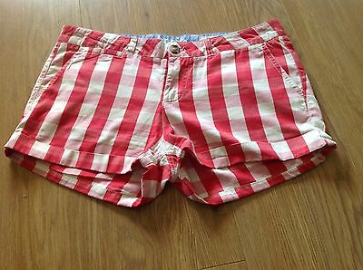 Johnnie B Boden Girls Red Gingham Check Shorts - Size 30