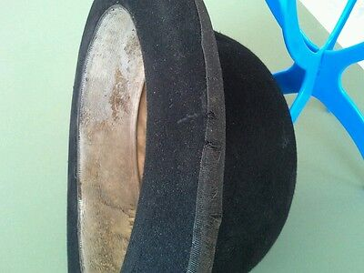 Original Vintage Gentlemen's Black Army & Navy Size large showman's bowler hat.
