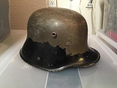 WWI German Helmet bullet Hole